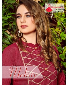 BUNDLE OF 5 WHOLESALE KURTI CATALOG MEHAR BY WATERMELON