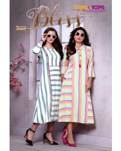 bundle of 6 kurti  Bliss  by Tips & Tops